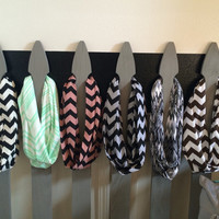 New Jersey Knit Fashion Infinity Chevron Scarf  Choose your color   Super Cute