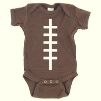 Football Baby Onesuit - Brown - Baby Boy