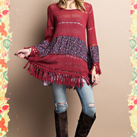 Flowers, Fringe and Flow Sweater