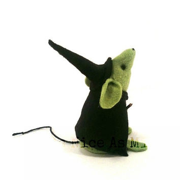 Halloween Ornament - Little Witch Mouse - a Unique handmade felt mouse ornament, a different gift for Halloween - READY FOR SHIPPING