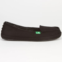 Sanuk Tailspin Womens Shoes Black  In Sizes