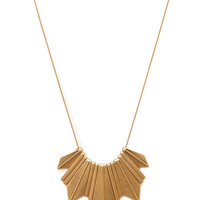 FOREVER 21 Geo Fringe Bib Necklace Gold One