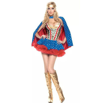 New Supergirl Adult Women Cosplay Halloween Costume Hot Sexy Superwoman Superhero Costumes
