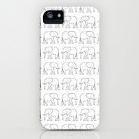 Elephants iPhone & iPod Case by Jamie Danielle