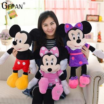 New Arrival 60CM High Quality Mickey & Minnie Mouse Plush Toys Stuffed Cute Cartoon Animal Dolls Party Gift For Kids Children