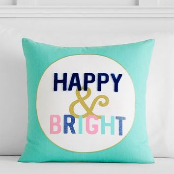 Bright Spirits Happy & Bright Pillow Cover