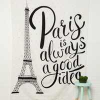 Eiffel Tower Wall Tapestry | Wall Decals | rue21