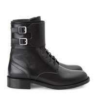 Saint Laurent Patti Military Boot | Harrods