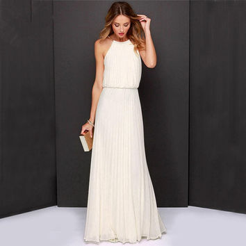 ≫∙∙Summer Boho Beautiful Halter Maxi Dress Beach Fashion Dress ∙∙≪