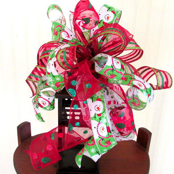 Christmas bow for wreath, lantern bow, holiday bow, Christmas decoration, Christmas bows, holiday bows, lantern bow Christmas