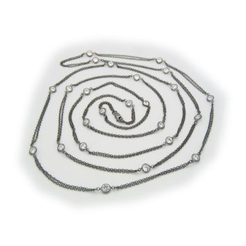 CZ by the Yard Midnight Necklace, 60 Inches