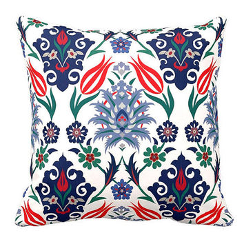 "Beauty-Crafts Decorative Pillow - tulip motif Turkish 17""x17"" (Pillow included inside)"