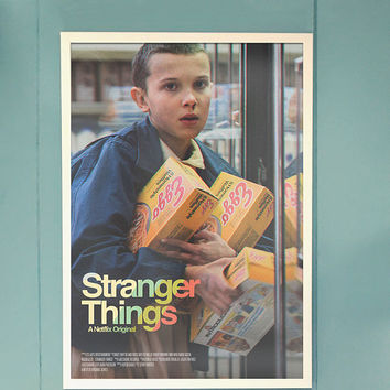 Stranger Things Poster // TV + Movie Alternative Poster // Retro Stranger Things Style Minimalist Poster wall art // Gift Idea for her