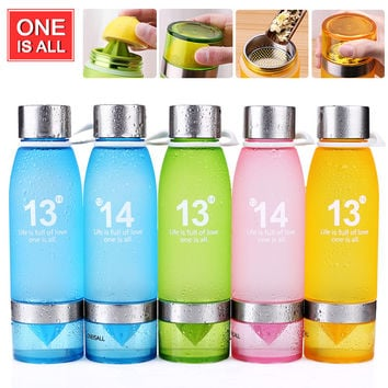 Health My Lemon Bottle Juice Plastic Cup Fruit Bottle for water tea Infuser drinking bottles Sport Bike Portable water Tumbler