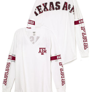 Texas A&M University Bling Varsity V-Neck Tee - PINK - Victoria's Secret
