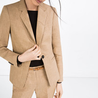 LINEN BLAZER - BLAZERS-WOMAN | ZARA United Kingdom