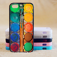 Water Color Painting Box, Custom Case, iPhone 4/4s/5/5s/5C, Samsung Galaxy S2/S3/S4/S5/Note 2/3, Htc One S/M7/M8, Moto G/X