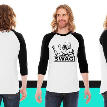 SWAG FOOTBALL PLAYER American Apparel Unisex 3/4 Sleeve T-Shirt