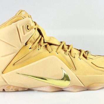 Nike Men's LeBron 12 XII EXT QS Wheat