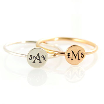 Monogram Stacking Ring