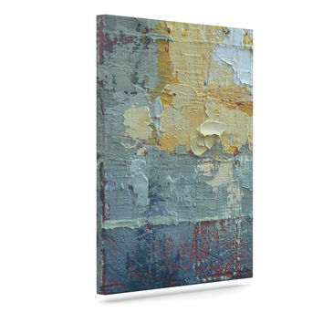 "Carol Schiff ""Indecision"" Yellow Teal Canvas Art"