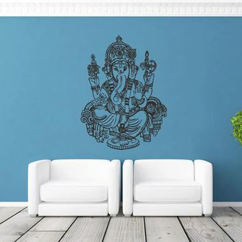 ik1808 Wall Decal Sticker Hindu elephant god Ganesh living room bedroom