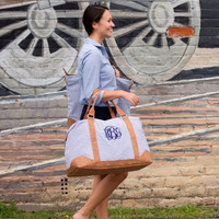 Simply Seersucker - Navy Weekender Bag | Driftwood Market