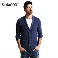 SIMWOOD 2017 new autumn winter cardigan men fashion casual sweater  knitwear slim fit  high quality MY2043