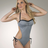 Guess- Check Me Out Monokini One Piece Swimsuit