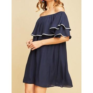 Heartbreaker Dress | Navy