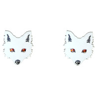 Dire Wolf Earrings with Crimson Swarovski® Crystals