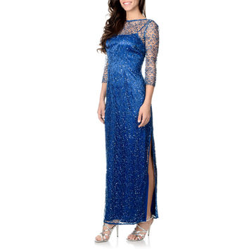 Cachet Women's Sequence Lace Gown