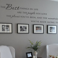 The best things in life people places memories family photo wall vinyl wall decal