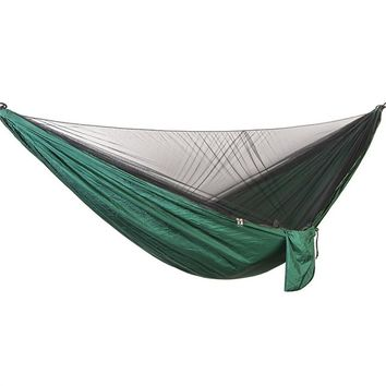 Portable Nylon Double Hammock with Bed Net for Outdoor Camping