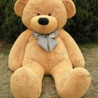 Joyfay 78 inches Giant Teddy Bear Light Brown 6.5 feet Stuffed Teddy Bear Soft Toy For Birthday Valentine