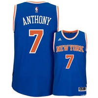 adidas New York Knicks Carmelo Anthony Swingman NBA Replica Jersey - Men, Size: