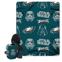 Philadelphia Eagles NFL Star Wars Darth Vader Hugger & Fleece Blanket Throw Set