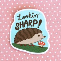 Hedgehog Lookin' Sharp Vinyl Sticker