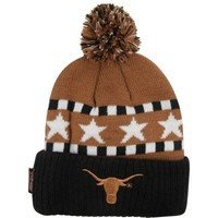 Texas Longhorns Preschool Burnt Orange Pom Top Cuffed Knit Hat