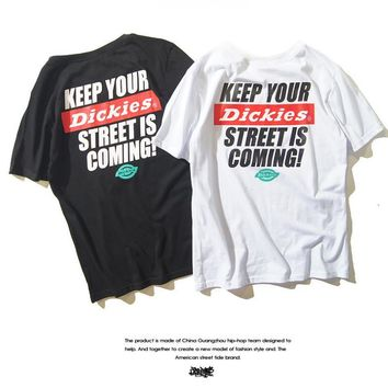 DICKIES print sweethearts outfit short sleeve T-shirt