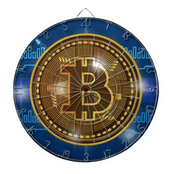 Cool Bitcoin logo and graph Design Dart Board
