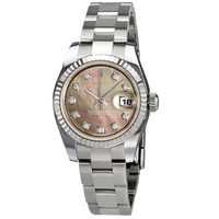 Rolex Lady Datejust Black Mother of Pearl Diamond Automatic Watch 179174BMDO