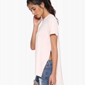 Chiffon Long Back Top with Slit