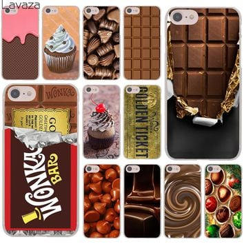 Lavaza chocolate Willy Wonka Bar With Golden Ticket Hard Case for Apple iPhone 7 7 Plus 6 6S Plus 5 5S SE 5C 4 4S Coque Shell