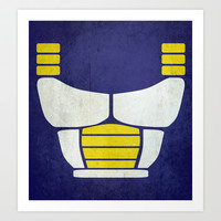Minimalist saiyan armor ( Dragon ball z ) Art Print by TxzDesign