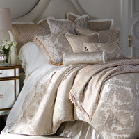 Darby Standard Damask Sham with Cording - Isabella Collection
