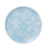 Christmas Snowflake Pattern Plate from Zazzle.com