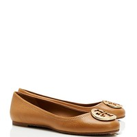 Tory Burch Reva Tumbled Leather Ballet Flat