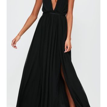 Missguided Plunging Maxi Dress | Nordstrom