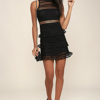 Name of Love Black Lace Dress